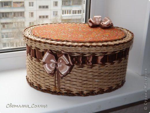 Поделка изделие День рождения Плетение Подарок для мамы Бумага газетная фото 1