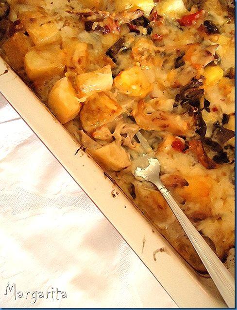 ογκραντεν με πατατες και κοτοπουλο