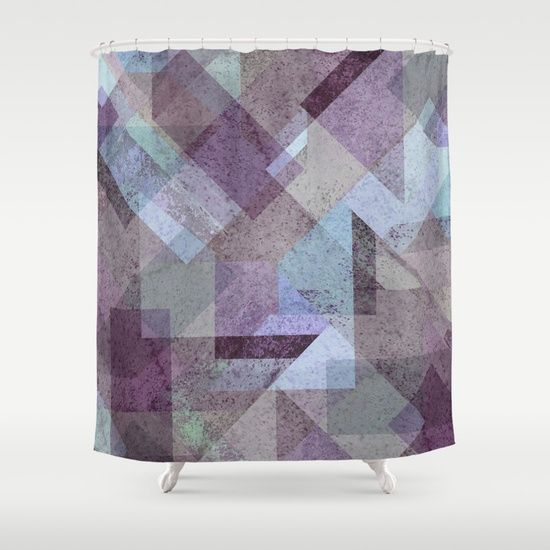 PLUM TURQUOISE ABSTRACT GEOMETRIC Shower Curtain  on @society6. PLUM, PURPLE, CYAN, TURQUOISE, BLUE, RASPBERRY, GEOMETRY, GEOMETRIC, SQUARE, TRIANGLES, MINT, GRAY, STRIPES, MINIMALIST, SCANDINAVIAN, DESIGN, POP, TAPESTRIES, HOME DECOR, SOCIETY6, XIARI