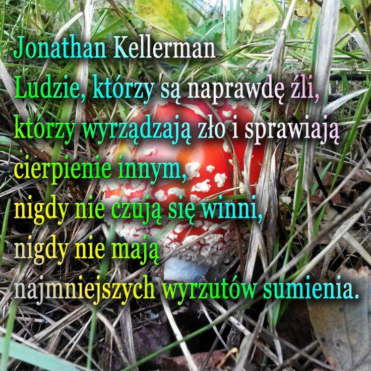 Jonathan Kellerman  Ludzie, którzy są naprawdę źli,  którzy wyrządzają zło i sprawiają cierpienie innym, nigdy nie czują się winni,  nigdy nie mają najmniejszych wyrzutów sumienia.