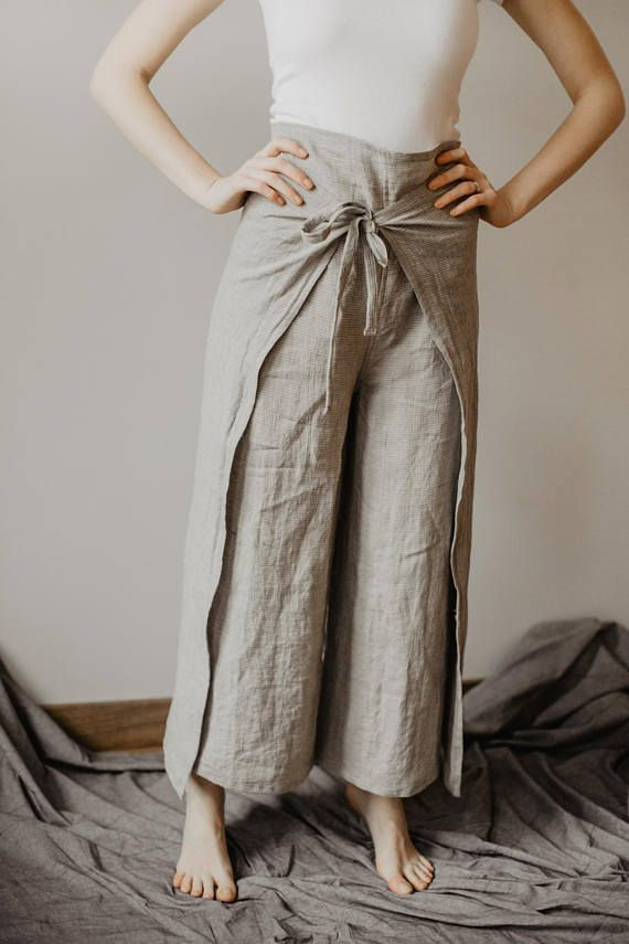 7c3c7d2a78982 Fisherman Pants Linen Wrap Pants Womens Line Yoga Trousers Loose pants Thai  Fisherman pants , Amonchai, Massage pants Men Woman One Size