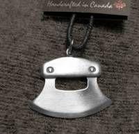 ULU Knife Pewter Pendant Necklace - Styled like a Northern Inuit Blubber Knife #530z