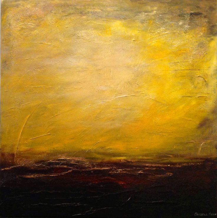 Christine Mason gives us 'Blazing Sun', a large acrylic you can stare into the distance with