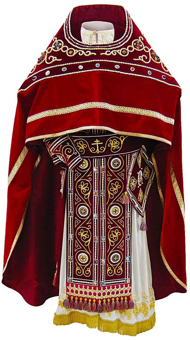 Russian-Style Priest Vestment, $5,670.00, This set consists of 6 items: zone…
