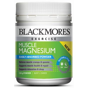 Blackmores Muscle Magnesium Powder may help relieve muscle cramps and spasms.  Blackmores Muscle Magnesium Powder supports muscle health and repair and is easily absorbed.