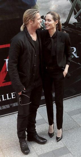 Brad and Angelina Take Their Red Carpet Romance to Paris: Brad Pitt and Angelina Jolie premiered World War Z in Paris.
