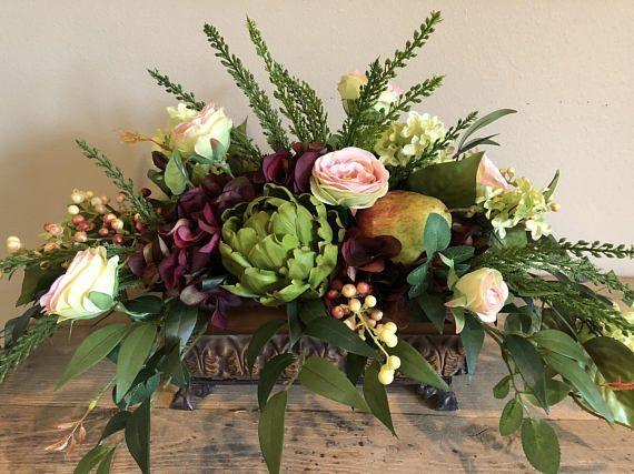 Silk Flower Arrangement Centerpiece Dining Table Arrangement