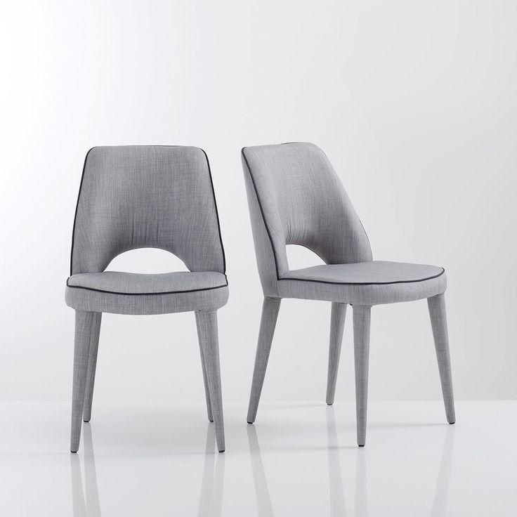 Chaise ergonomique en tissu (lot de 2), joan La Redoute Interieurs | La Redoute