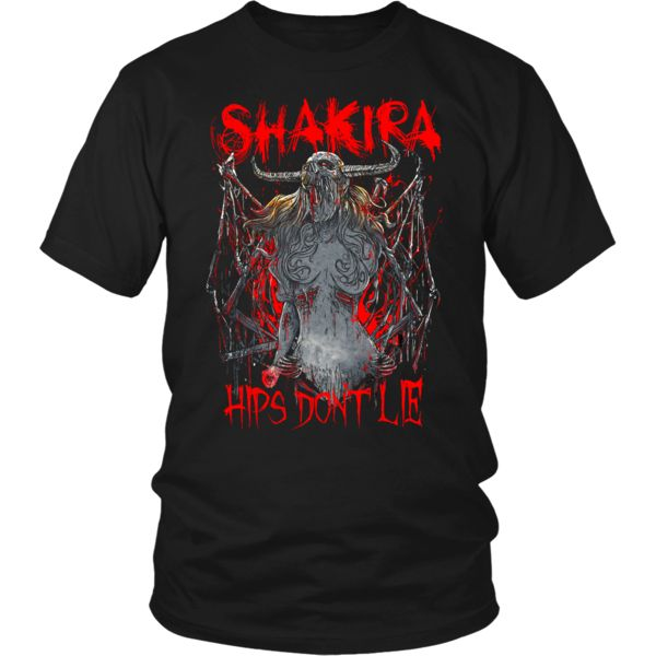 Shakira - Hips Don't Lie metal shirt. USD 17.59 We ship worldwide! ------------- metal head, black metal, pop music, heavy metal, fashion, clothing