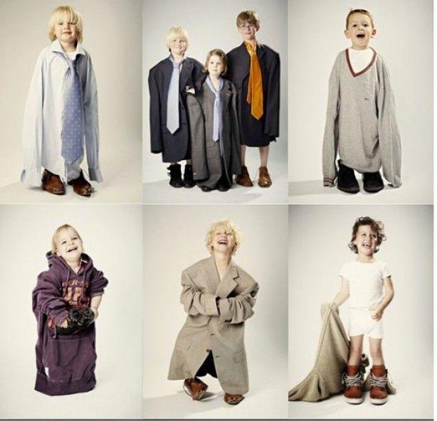 Fotoshoot met professionele fotograaf: Like My Daddy! Kinderen op de foto in de kleding van papa. Concept van Alies Vinkenborg. Fotoshoot op 24 en 25 mei in Naarden. Meer info op ZOOK.