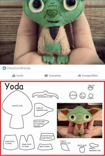 Yoda feltie cute Star Wars template sewing felt