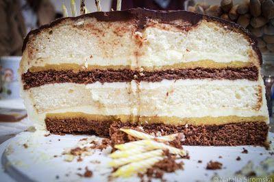 Moja Odrobina Zapomnienia: Mój urodzinowy, brzoskwiniowy tort z awokado