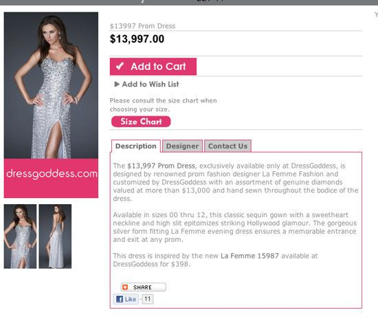 The $13,997 Prom Dress By DressGoddess: Most Expensive Prom Dress Ever? (PHOTOS, POLL)