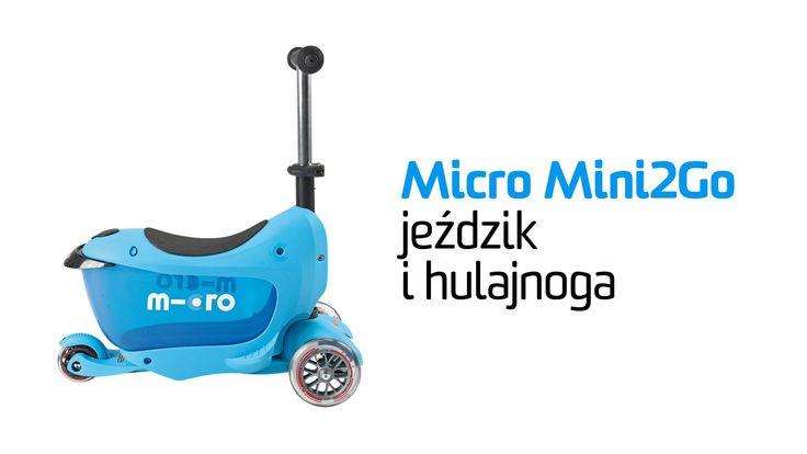 Micro Mini2Go to jeździk i hulajnoga Mini Micro w jednym :-). Micro Mini2Go - dwa pojazdy... jeździk z bagażnikiem i hulajnoga Mini Micro z regulowaną wysokością drążka. Sprawdzona konstrukcja hulajnogi Mini Micro posłużyła jako fundament dla jeździka Micro Mini2Go. Micro Mini2Go producent proponuje dla dzieci od 1,5 do 5 roku życia. http://www.aktywnysmyk.pl/230-micro-mini2go-jezdzik-i-hulajnoga