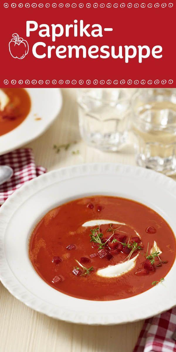Eine Suppe, die garantiert ausgelöffelt wird.  Überzeuge dich selbst von dem tollen Geschmack der Paprika- Cremesuppe.
