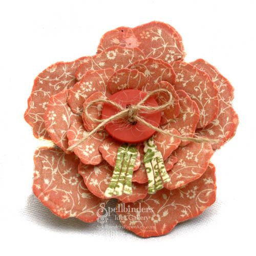 View Idea Gallery Projects | Spellbinders - Rose Creations Brooch