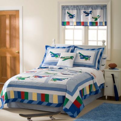 Let your little pilot dream of flight with the Fly Away Quilt Set  This fun  quilt features a handcrafted pattern made of pieced materials delicately  sewn. 32 best Boys Room images on Pinterest   Kids rooms  Airplane