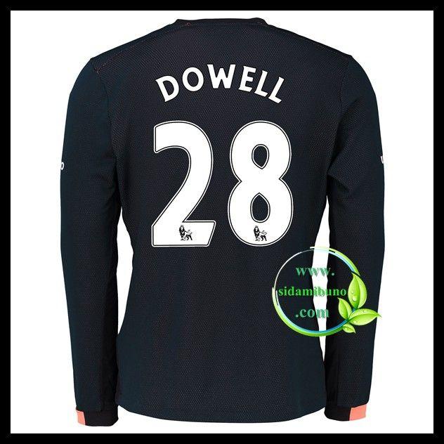 Fotballdrakter Everton Langermet DOWELL #28 Bortedraktsett 2016-2017