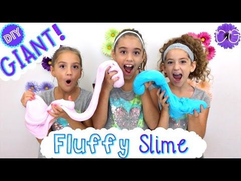 DIY GIANT FLUFFY SLIME! NO BORAX, LIQUID STARCH OR DETERGENT! - YouTube