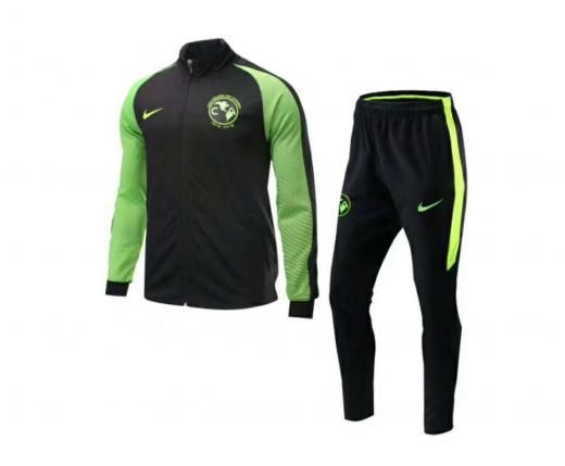 2017 Club America Soccer Jersey Set Football Jacket And Pants Long Sleeve Regular Coats & Jackets