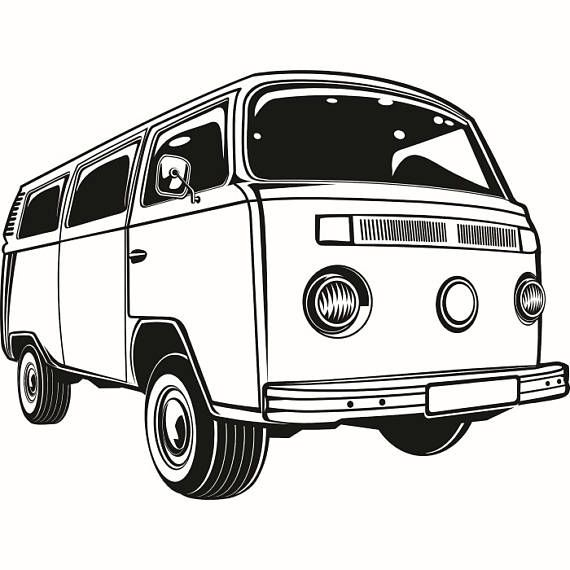 Volkswagen VW Bus #2 Classic Vintage Retro Van Surfing Vehicle ...