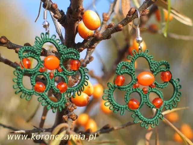 www.polandhandmade.pl #polandhandmade #earrings #frywolitka