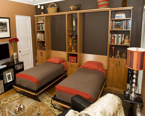 Two Twin Wall Beds In Home Office