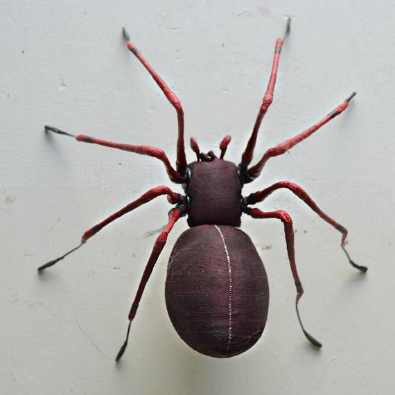 Spider soft sculpture By Mister Finch by MisterFinch on Etsy