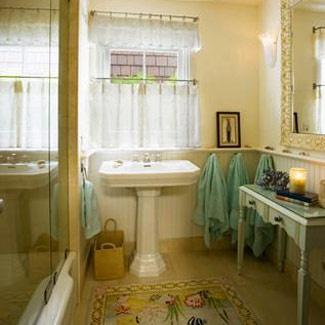 Lovely Bathroom Curtains