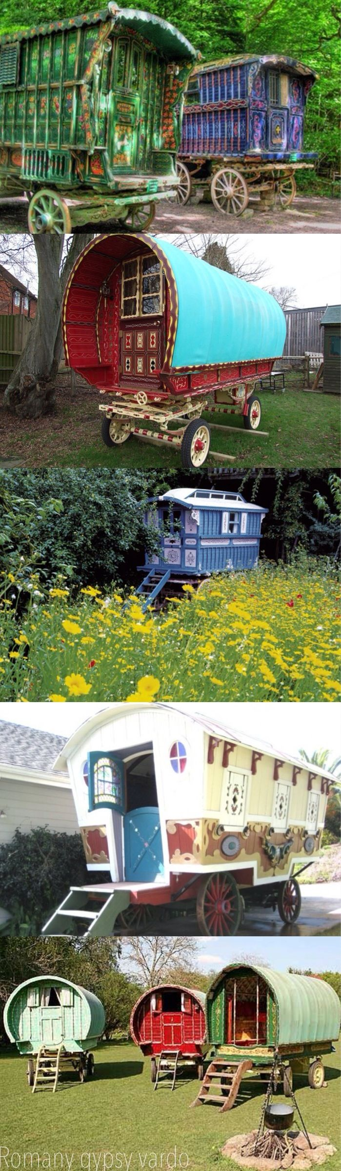 I showed this to someone else and then what happened next I couldn't believe gypsy caravan...I've always wanted one of these ever since I was little. Have no idea where I ever saw one... but have always loved them.