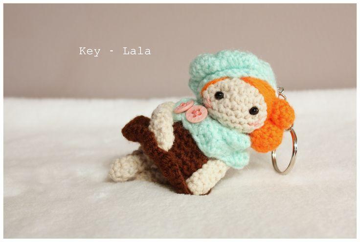 Amigurumi doll  #amigurumi #doll #amigurumis #little #lala #lalka #szydełkowa #rękodzieło #key #brelok #crochet