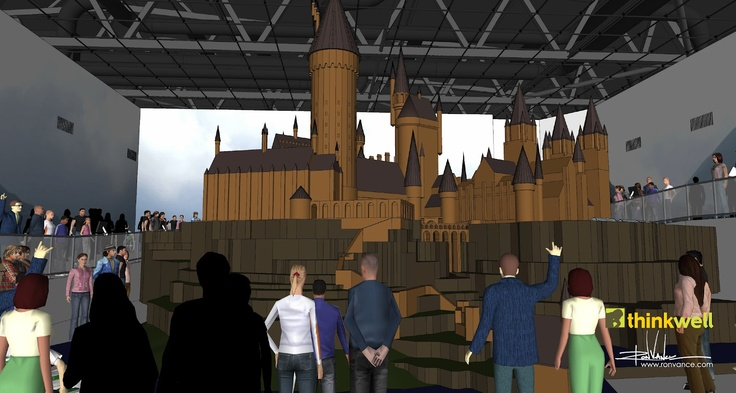 Harry Potter Experience at Leavesden Studios SketchUp model of Hogwart's scale model (this was the first part of the project that I worked on for Thinkwell—fun!) by Ron Vance [www.ronvance.com]