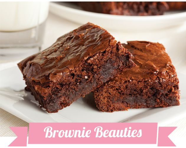 Valentine's Brownie Beauties - Approx. 200 calories per serving (Makes 2 servings) #UWeightLoss