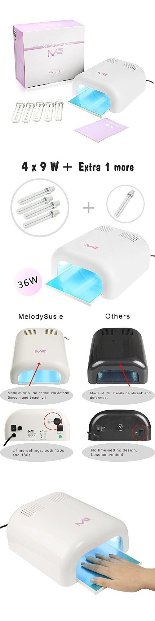 Nail Dryers and UV LED Lamps: 36W Nail Dryer Uv Lamp Light For Acrylic Gelish And Shellac Curing Spa Equipment BUY IT NOW ONLY: $35.99