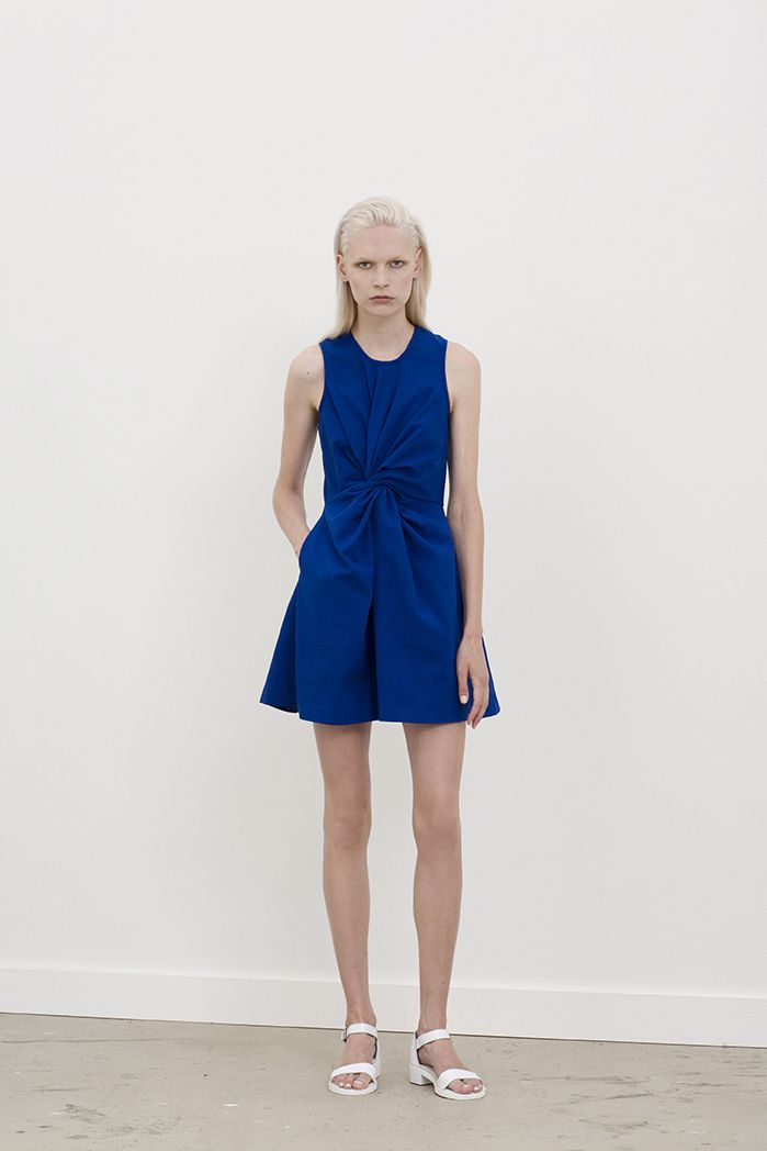 Liss racer dress with twisted front