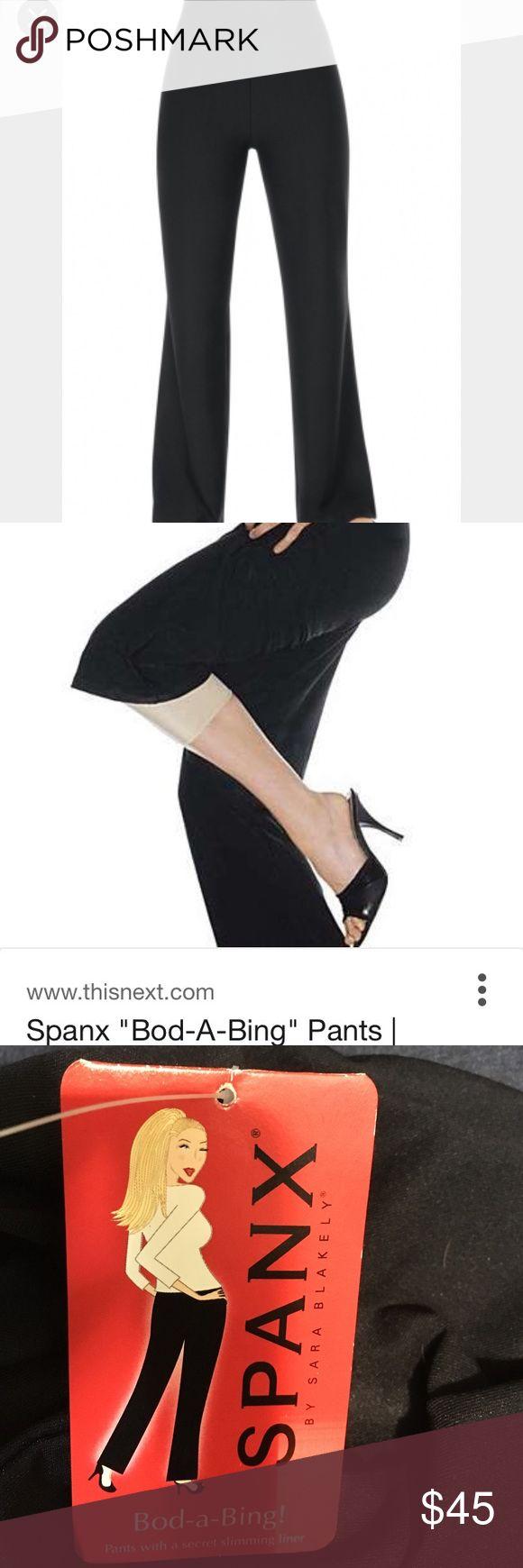 Nwt: spanx Bod-a-bing pants Beautiful spanx pants black size small SPANX Pants Wide Leg