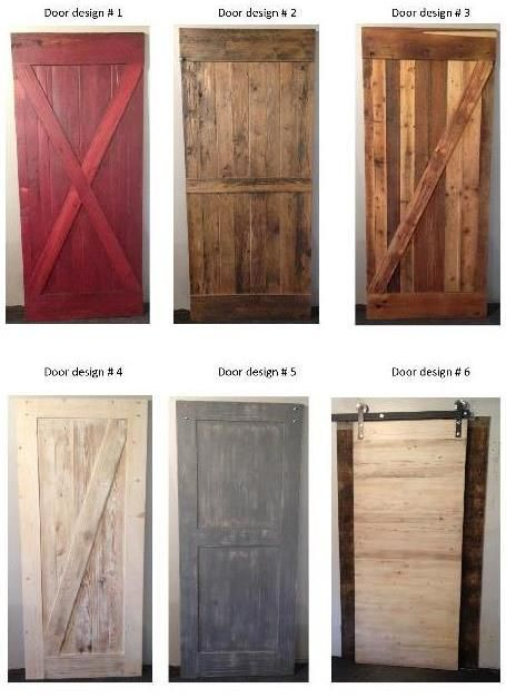 New Barn wood door designs from Prairie Barnwood...