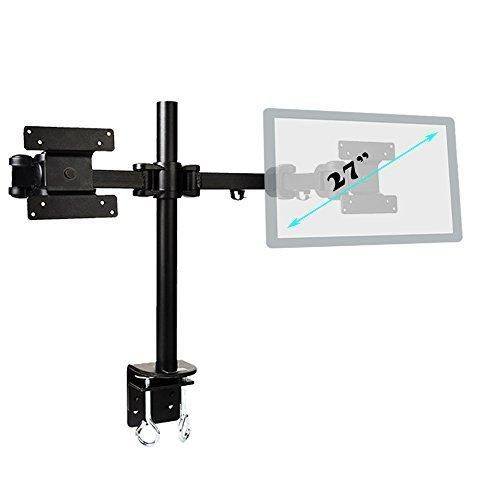 """Dual Monitor Stand - Adjustable LCD Monitor Stand For Up To 27"""" - For Office Studio And Home."""