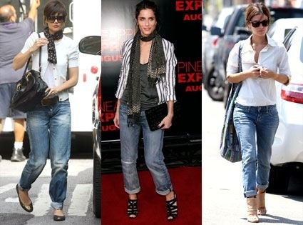 Rolled up skinny jeans trend