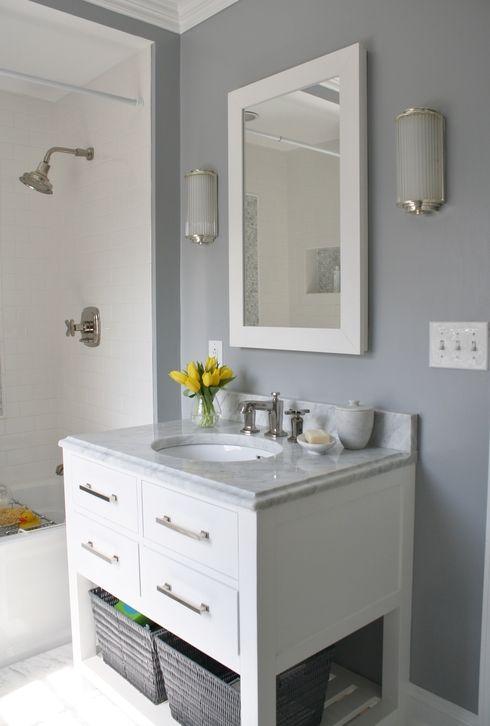 Enjoyable 17 Best Ideas About Small Grey Bathrooms On Pinterest Blue Grey Inspirational Interior Design Netriciaus
