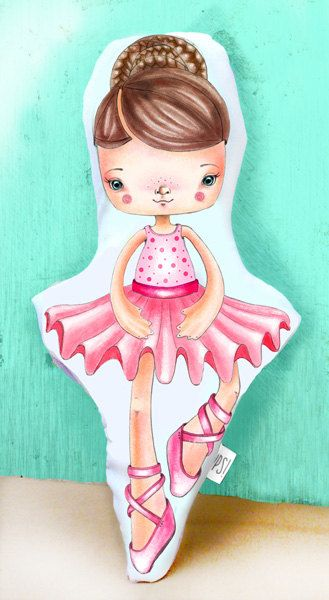 Muñeca Bailarina -  Dancer doll de JessicaIlustradora en Etsy