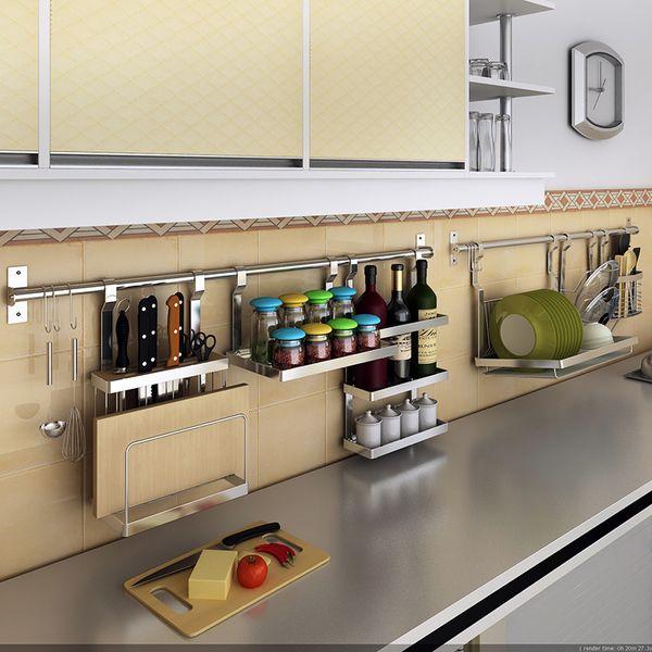IKEA 304 из нержавеющей стали кухонные шкафы кухни стойки приправа стойки палочки для еды стены горшок стойку разделочная доска стойки