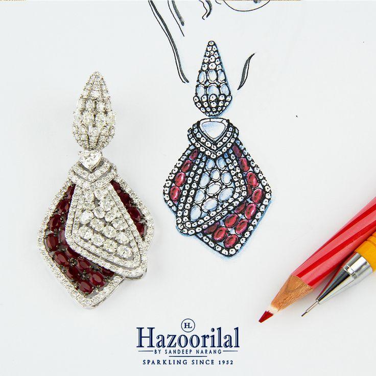 The desire to create is what makes each piece so special.  #HazoorilalBySandeepNarang #Creativity #DesignIdeas #JewelleryDesigns #Rubies #Diamonds #ItcMaurya #DlfEmporio #HazoorilalJewellers #Hazoorilal