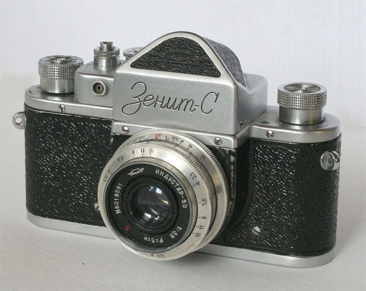 Малоформатный однообъективный зеркальный фотоаппарат «Зенит-С», СССР, 1955