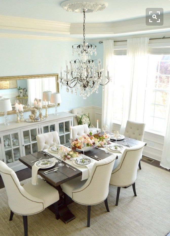 47 best house and home the dining room images on for White formal dining room