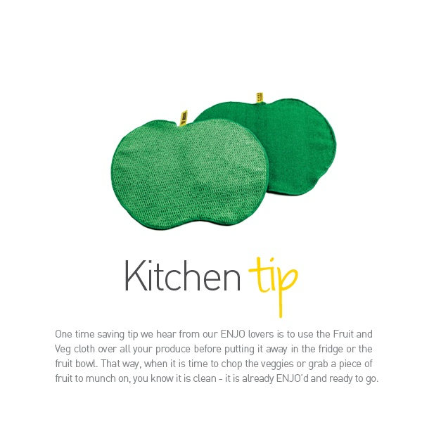 ENJO Fruit & Veg Cloth - Kitchen Tip - Find it at www.enjo.com.au