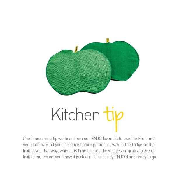 ENJO Fruit & Veg Cloth - Kitchen Tip - Find it at www.enjo.com.au