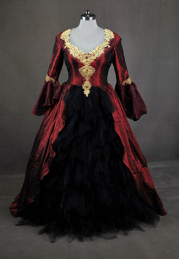 Once Upon A Time Regina Evil Queen Inspired Red Ball Gown