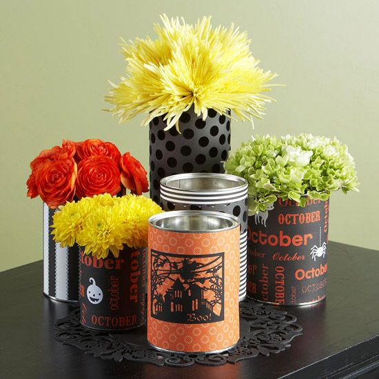 Recycled Halloween Centerpiece