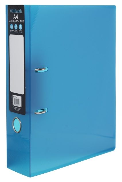 WHSmith Blue A4 Polypro Lever Arch File